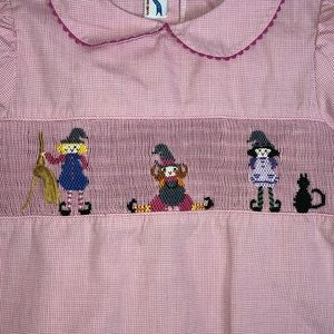 Silly Goose Halloween Hocus Pocus Smocked Top 4T